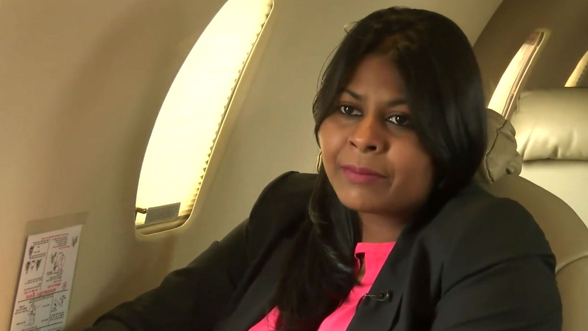 Kanika Tekriwal in the aircraft