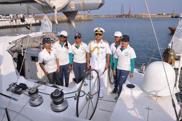 Women Naval Crew Goa sailing world