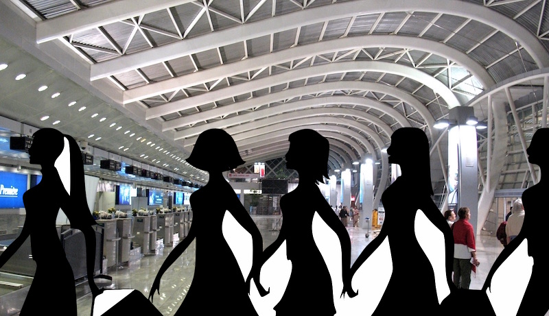 India Mumbai Airport Women Travellers