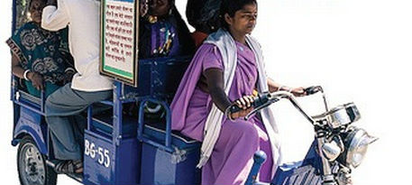 Women driven e rickshaws