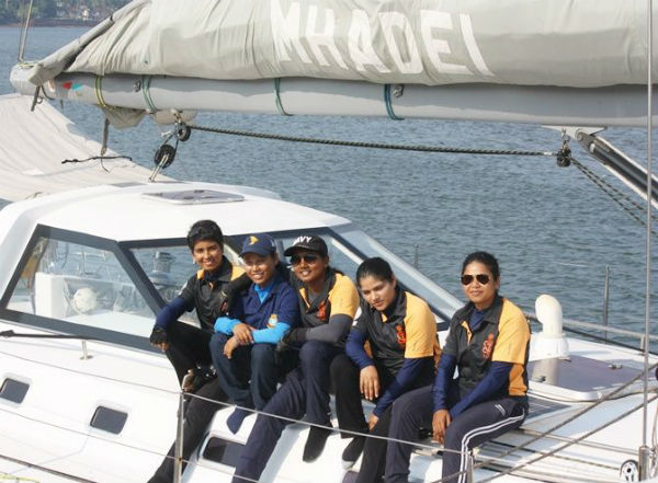 India's first all-women crew sailers