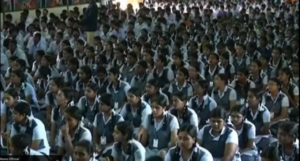 Coimbatore school girls chant hymns