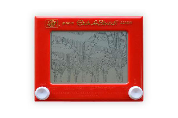 Artist Jane Labowitch's trip to India. The Red Fort sketch