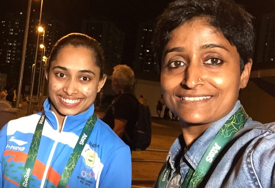 Priyadarshini Arya With Dipa Karmakar