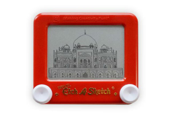 Artist Jane Labowitch's trip to India. Humayun's Tomb sketch