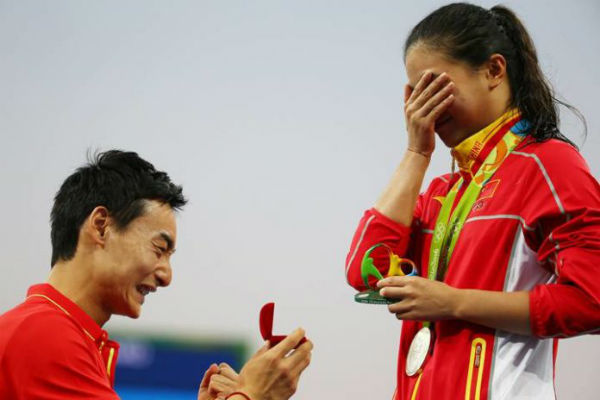 Chinese diver He Zi and Qin Kai