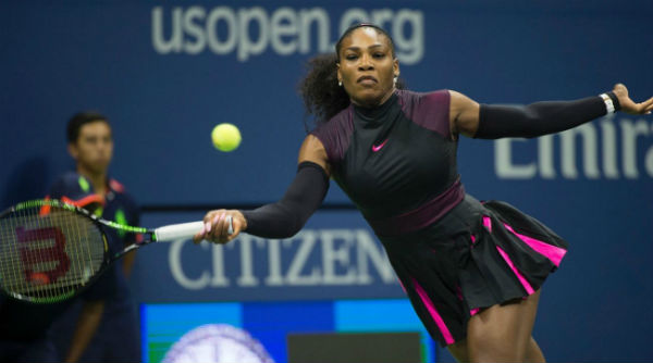Serena Williams in Round 2 in US Open