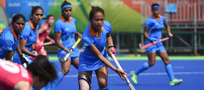 Indian womens hockey team at Rio