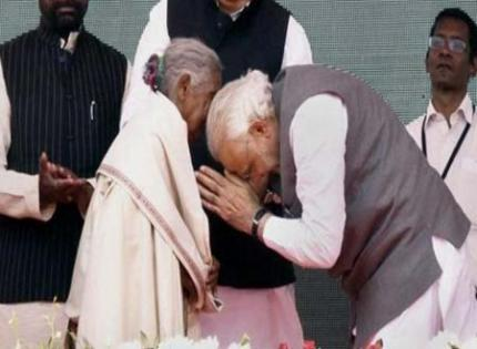 Prime Minister Narendra Modi had in February touched her feet during a rally in Rajnandgaon