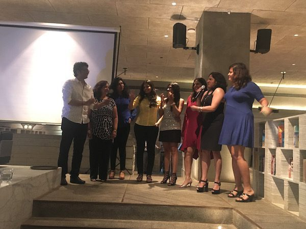Apurv Nagpal with the women writers from Mumbai and Pune at the book launch event here in Mumbai.