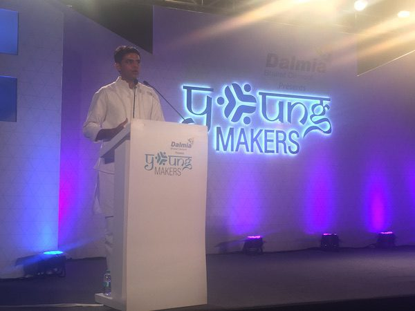 Mr. Sachin Pilot addresses the youth at the Young Makers Conclave in New Delhi.
