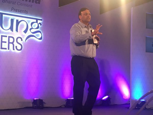 Mr. Arvind Gupta at Young Makers Conclave talking about the Digital Revolution in India