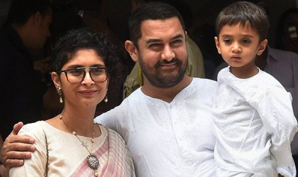 Aamir Khan, Kiran Rao and surrogate son Azad