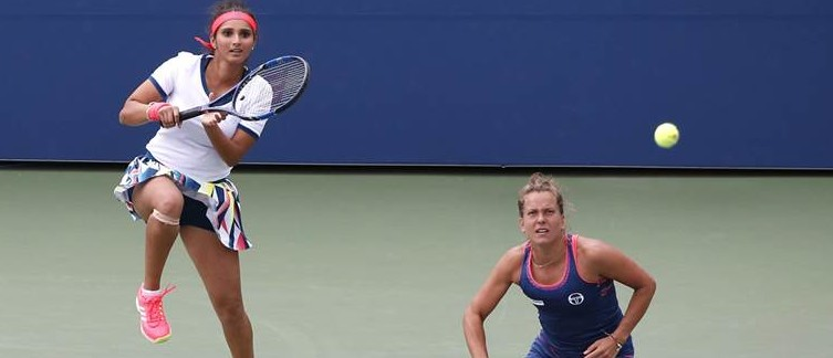 Sania Mirza and her Czech partner Barbora Strycova