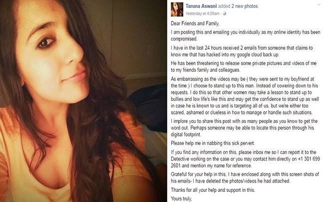 Taruna Aswani Stands up to cyber bullying