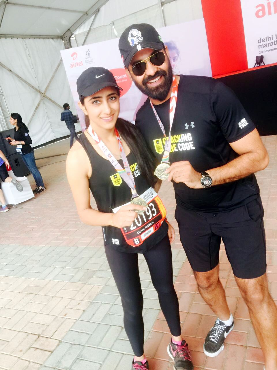 Rajasthan's fastest finisher at ATHM, Charu Thukral. Photo credits- Shethepeople.tv
