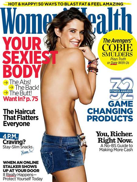 Cobie Smulders on the cover of Women's Health in 2015