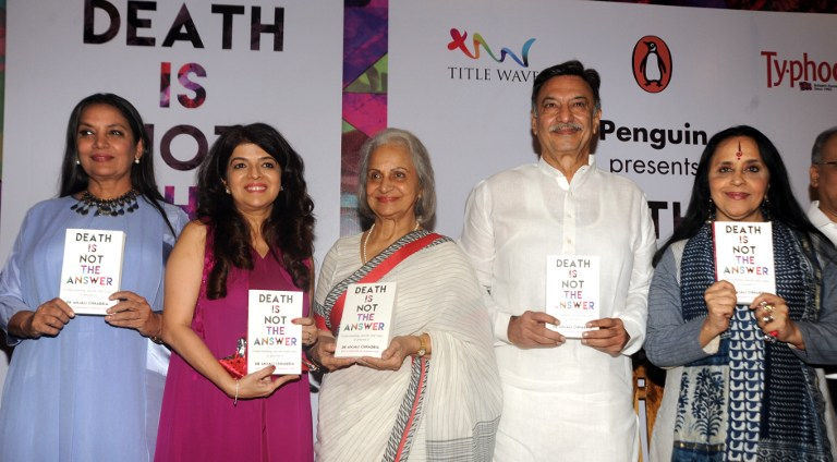 Death is not the answer book launch
