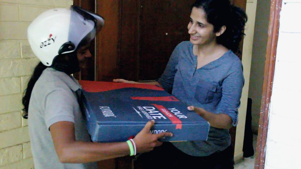 Even Cargo women rider delivers a package