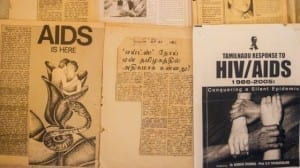 HIV newspaper cuttings