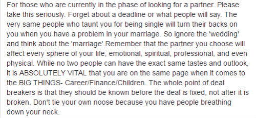 Nazreen Fazal Facebook post on arrange marriage (Pic credit: Facebook)