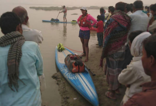 Shilpika Gautam Paddle-boards Across The Ganges To Spread The Swachh Message