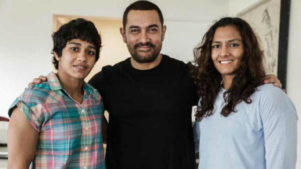 Aamir Khan Met Babita and Geeta Phogat