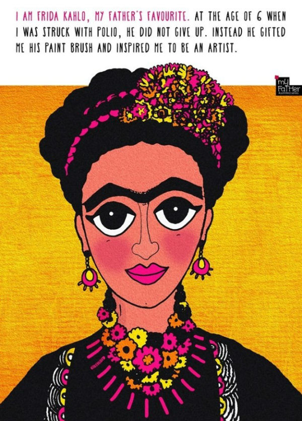 Debasmita Dasgupta illustrations - Mexican painter Frida Kahlo