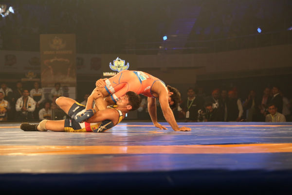 Haryana Hammers dominate over Mumbai Maharathi to win opening tie of Pro Wrestling League Season 2