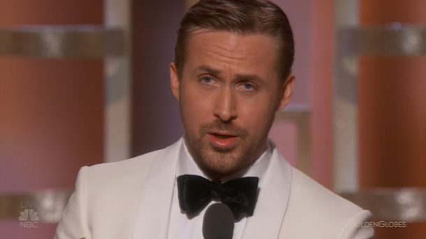 Ryan Gosling at Golden Globes
