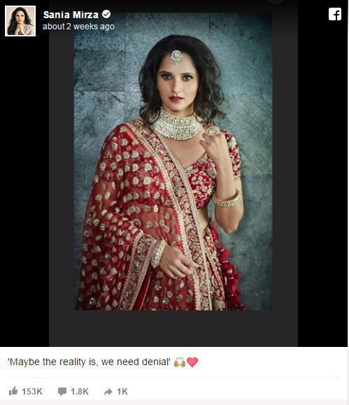 Sania Mirza facebook post