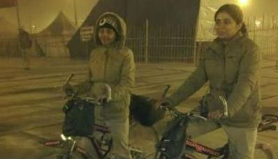 Women cops patrol Magh mela campus on bicycles