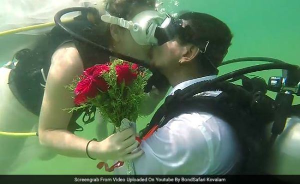 India's First Underwater Wedding Takes Place In Kovalam