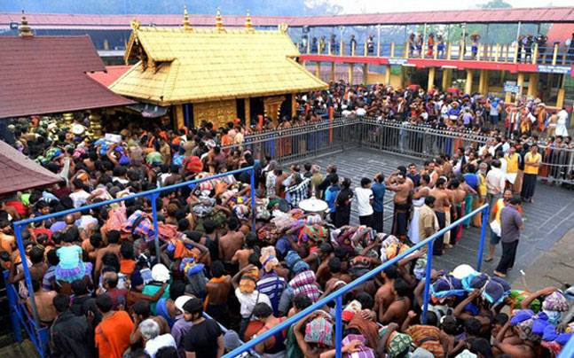 Women fight radical groups sabarimala