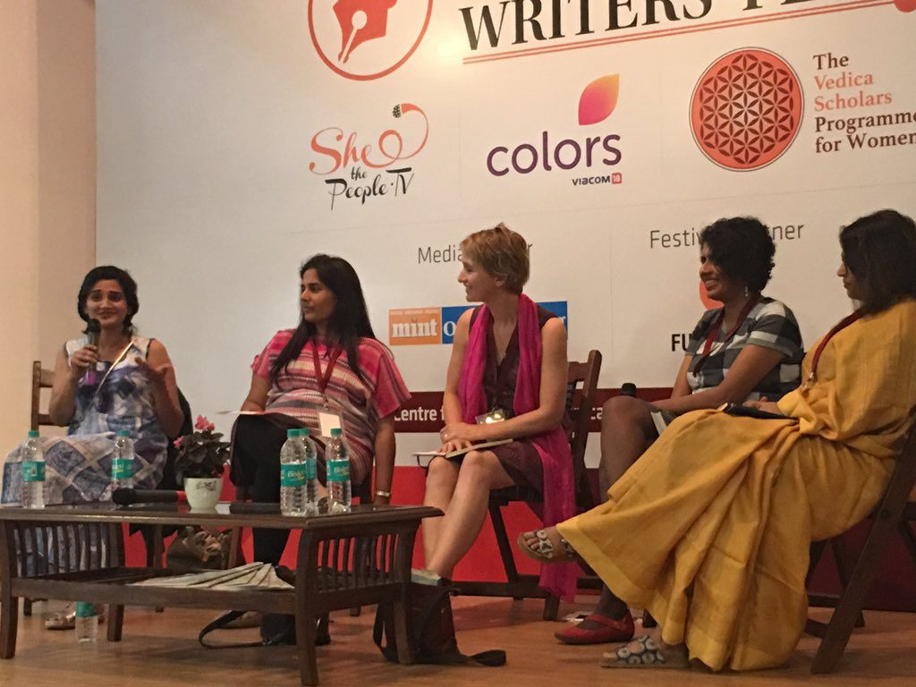 Change Begins at Home session at the Women Writer's Fest