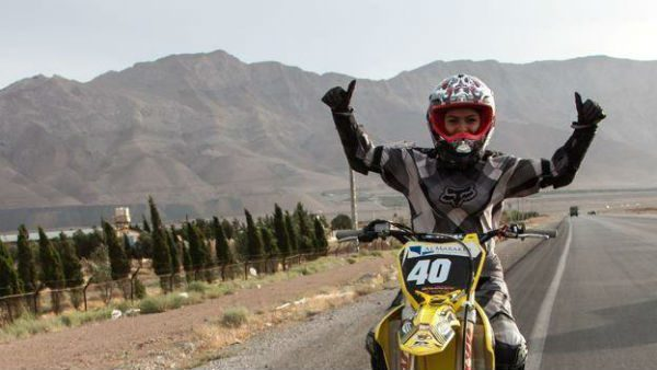 Behnaz Shafiei, Female Biker in Iran