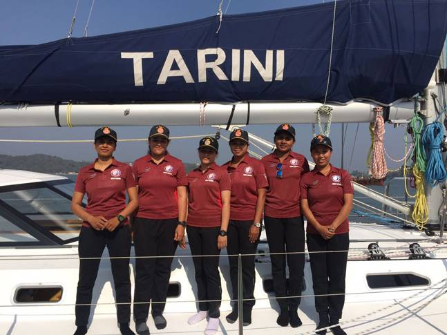 The all-women crew who will sail Tarini