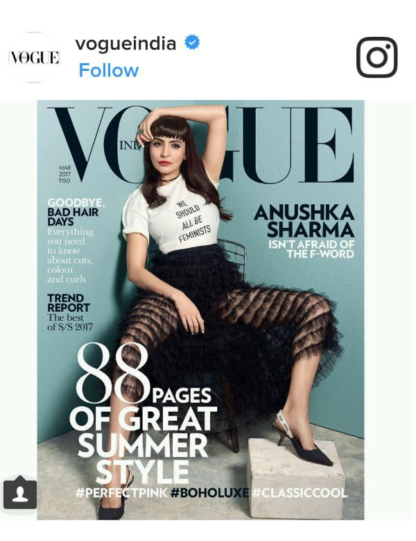 Anushka Sharma on Vogue's March 2017 cover
