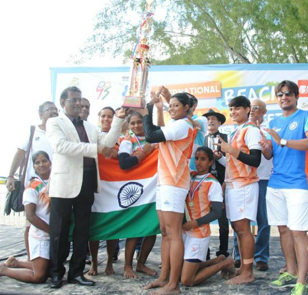 India's women's beach kabaddi team