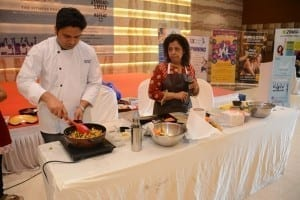 cooking session at fitness fest