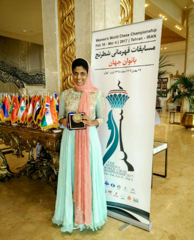 Harika Dronavalli clinched bronze medal in the 2017 Women's World Chess Championship