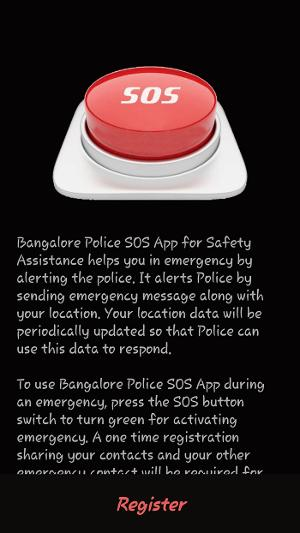 Bengaluru city police app for women's safety