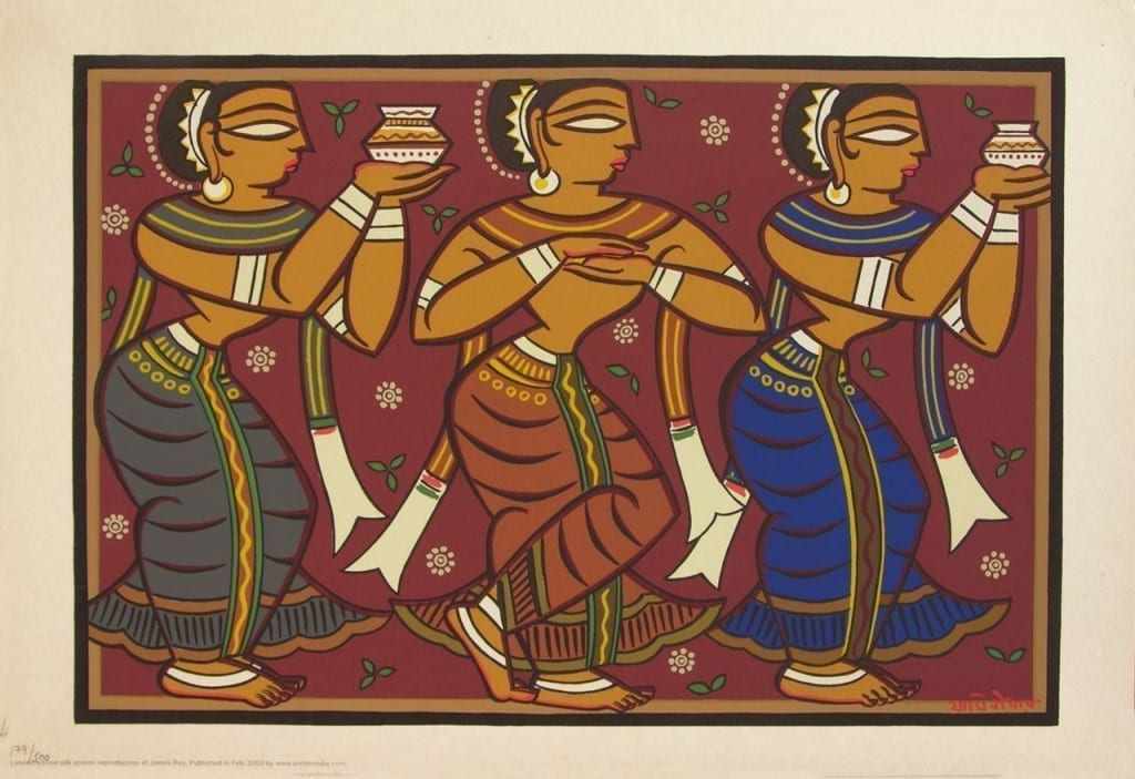 Gopini by Jamini Roy, Credit: Archer India