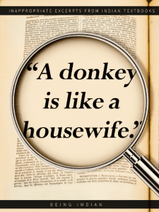 Housewives being compared to donkeys