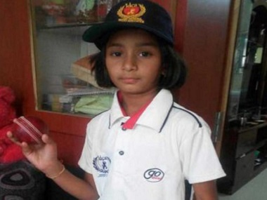 Nine-year-old Anadi Tagda, who is set to play with the under-19 squad