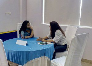 Ruchita Taneja with one of her mentees