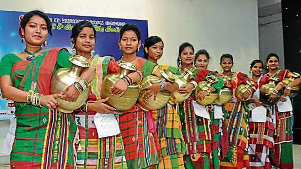 Tribal women ramp walk in Jharkhand