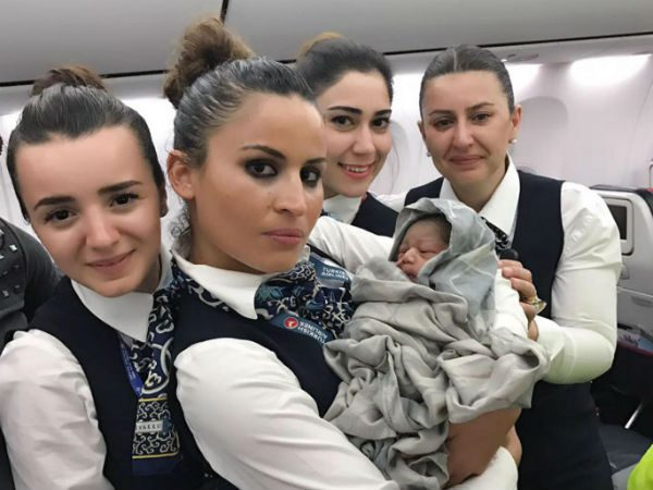 Turkish Airlines Cabin Crew Deliver Baby Girl Mid-Flight