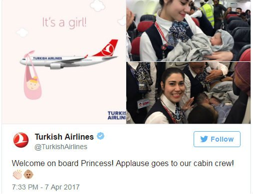 Turkish Airlines Flight Crew Delivers Baby