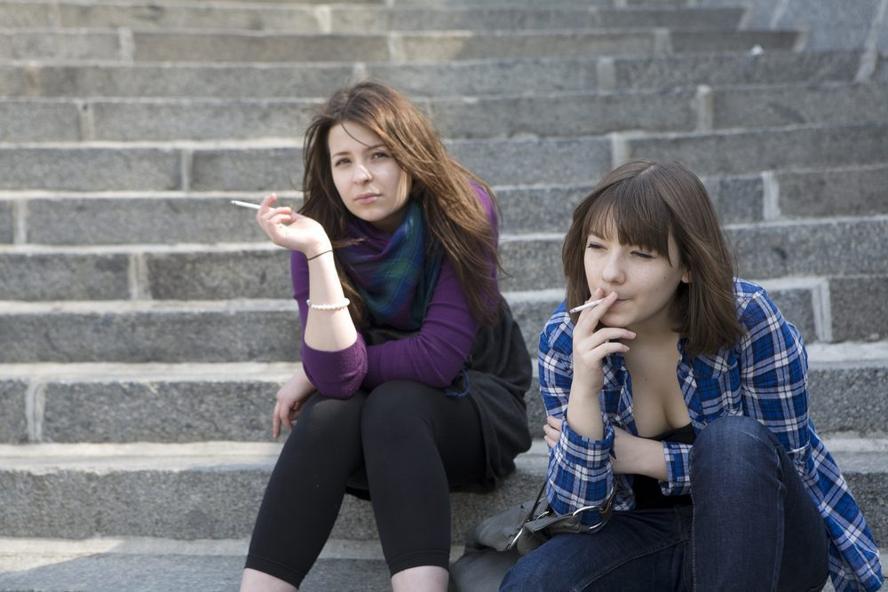 Girls smoking